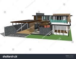 home design 3d vs sketchup 3d model house sketchup stock illustration 447462598 shutterstock