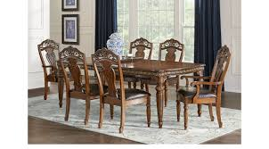 handly manor pecan 7 pc rectangle dining room traditional