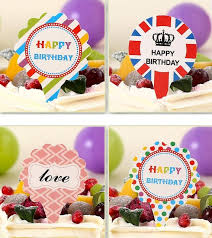 cartoon cute cake toppers paper cards banner for cupcake wrapper