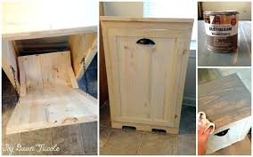 Free Wooden Garbage Bin Plans by Trash Cans Trash Can Bin Cabinet Outdoor Trash Can Bin Plans