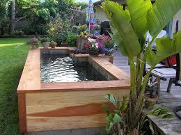 Small Fish Pond Wood Layered Backyard Design Ideas Pinterest - Backyard pond designs small