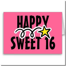 happy sweet 16 birthday cards pictures reference