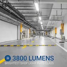hyper tough led shop light hyperselect led shop light 4ft garage utility led light integrated