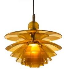 Butterfly Chandelier Poul Henningsen U0027butterfly U0027 Chandelier With Amber Colored Glass