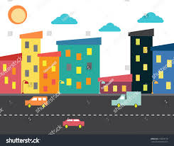 Colorful City Colorful City Stock Vector 216870175 Shutterstock