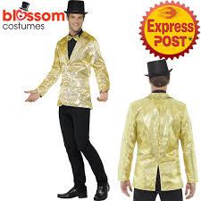 mardi gras costumes for men ca503 mens gold sequins jacket stag circus ringmaster mardi