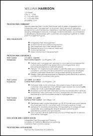 Document Controller Resume Sample by Free Contemporary Pest Control Resume Template Resumenow