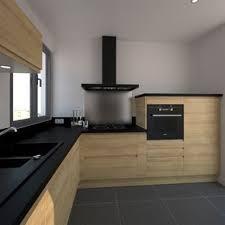 livraison cuisine ikea cuisine moderne avec façades en bois sans poignée système de