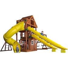backyard discovery odyssey traverse wooden swing set walmart com