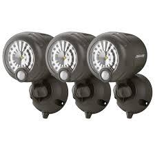 wireless led outdoor lights mr beams wireless 120 degree bronze motion sensing outdoor