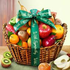 sympathy fruit baskets with sympathy fruit basket aa4000s a gift inside