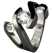 titanium engagement rings stella black titanium engagement ring rings