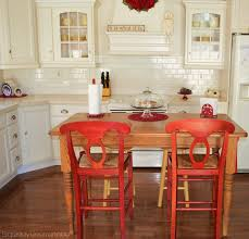 Red Dining Room Table Turn Your Kitchen Table Into A Farmhouse Island Exquisitely