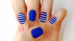 sailor nails nail art designs blue nail art tutorial with diy