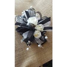 black and white corsage prom flowers mebane nc florist gallery florist and gifts inc