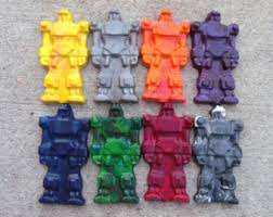 transformer party favors crayon party favors transformers shaped recycled crayons party