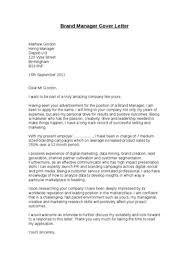 brand management cover letter brand manager advice assistant