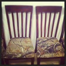 reupholstered kitchen chairs with camo fabric diy pinterest
