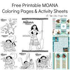 free printable moana coloring pages u0026 activity sheets twin