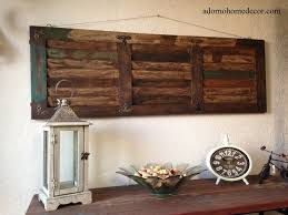 rustic wood wall panel distressed shutter antique vintage shabby