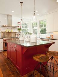 kitchen island color ideas red painted kitchen island with all white kitchen cabinets hupehome