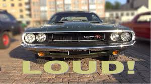 dodge challenger 1970s 1970 dodge challenger r t 440 magnum amazing v8 and exhaust
