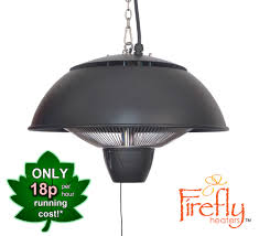 hanging patio heater 1 5kw hanging ceiling black electric halogen patio heater by