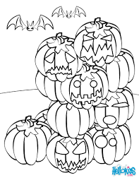 jack o lantern gathering coloring pages hellokids com