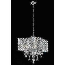 Chandelier With White Shade Chrome Chandeliers And Ceiling Fixtures Ebay