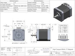 high torque nema 17 stepper motors
