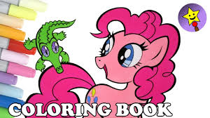 pinkie pie coloring book page mlp my little pony pinkie pie and