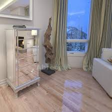 Venetian Mirrored Bedroom Furniture Mirrored Silver 4 Drawer Chest Or 6 Drawer Tallboy Matching