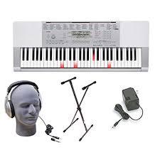 casio lk 175 61 lighted key personal keyboard casio lk280 lighted key premium keyboard pack with headphones power