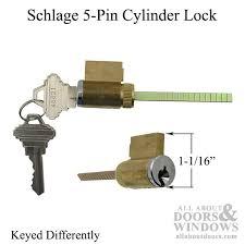 5 Patio Door Cylinder Pin Tumbler Lock 5 Pin Tumbler Lock