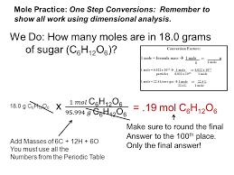 Table Sugar Formula The Mole Unit 5 Formula Mass Formula Mass Also Called Formula