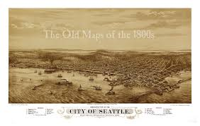 Seattle Washington Map by Seattle Washington In 1878 Bird U0027s Eye View Aerial Map
