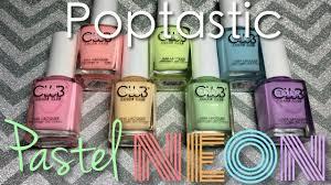 color club poptastic 2015 pastel neon collection nail polish