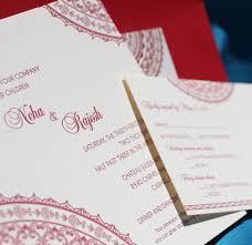 Hindu Invitation Cards Neha Indian Wedding Card Design Letterpress Wedding Invitation Blog