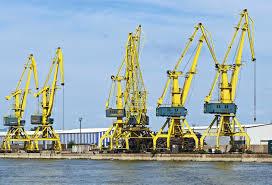 free picture port construction crane warehouse sea water
