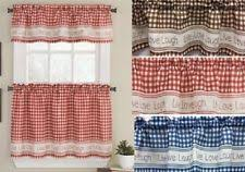 Red Blue Curtains Gingham Curtains Ebay