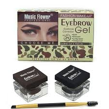 light brown gel eyeliner music flower eyebrow makeup kit eye brow gel eyeliner gel