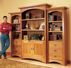 Wooden Bookcase Plans Free by Craftsman Bookcase Aw Popular Woodworking Magazine