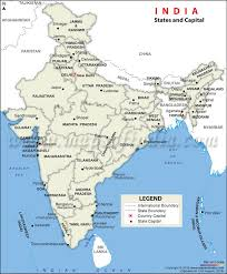 map of is states states and capitals of india map list of total 29 states and