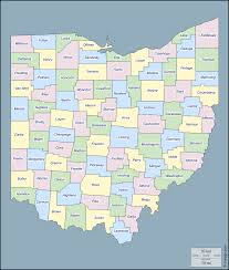 Ohio On The Map by Ohio Free Map Free Blank Map Free Outline Map Free Base Map