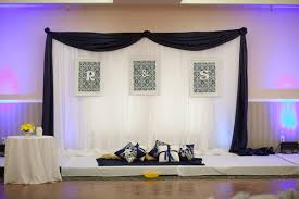 wedding backdrop blue wedding backdrop support stand 3m