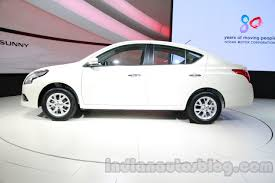 nissan sunny 2016 nissan sunny facelift side at auto expo 2014 indian autos blog