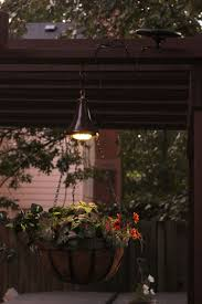 Solar Lights Hanging by Hanging Basket With Solar Led Accent Light Deck U0026 Patio Lighting