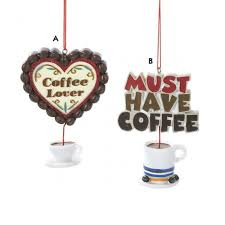 coffee dangling coffee cup ornament