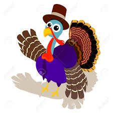 a turkey wear pilgrim hat and say hello to you