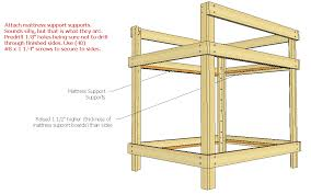 Wood Twin Loft Bed Plans by Diy Bunk Bed Plans Queen Wooden Pdf Pergola Designs India